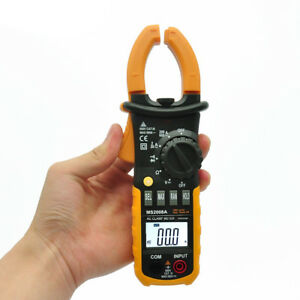 Digital Clamp Meter Dc Ac Volt Ac Amp Ohm Tester Ms2008a 2000 Counts Lcd