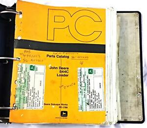 John Deere 544c Loader Parts Catalog John Deere Dubuque Works Pc 1789 W Binder