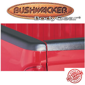 Bushwacker Black Smooth Bedrail Caps Fits 95 04 Toyota Tacoma 6 Bed W o Holes