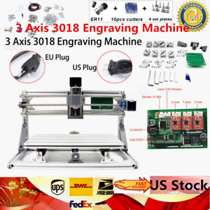 3 Axis Cnc Router Kit 3018 Er11 Engraver Machine Diy Pcb Milling Wood Carving