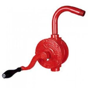 55 Gallon Drum Rotary Hand Pump Oil Fuel Gas Barrel Heavy Duty Free Shipping