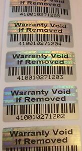 500 Svag Wvir Warranty Void Bar Code Hologram Security Label Seals 75 X 1 5