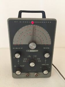 Heathkit Rf Signal Generator Rf 1 ig 102 With Test Cable And Power Cord