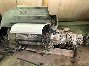 540 Engine Transmission And Harness Wires 4 0l Bmw 5 Series 540
