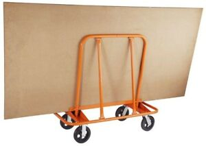 Utility Rolling Work Cart Dolly Drywall Sheet Rock Plywood Holder Portable