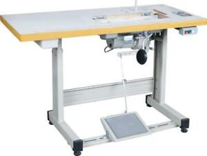 Sewing Machine Table Complete With Clutch Motor