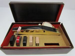 Fancy Gold Color Vintage Dymo M 10 Tapewriter Label Maker W Case Accessories