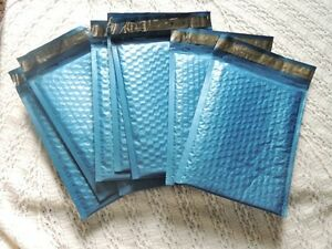 100 Metallic Blue 6x9 Padded Poly Bubble Mailers Premium Quality Shipping Envl
