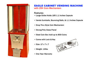 Eagle Cabinet 25 Capsule Toy Gumball Vending Machine new One Year Warranty