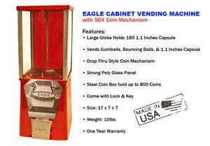 Eagle Cabinet 50 Capsule Toy Gumball Vending Machine new One Year Warranty
