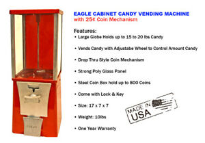 Eagle Cabinet 25 Candy Chiclets M m Vending Machine new One Year Warranty