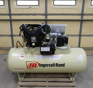 Ingersoll Rand Air Compressor 2475 5 Hp 3 Ph 1740 Rpm Air Cooled After Cooler