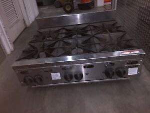Vulcan Heavy Duty Commercial Natural Gas Counter top 6 Burner Stove Pick Up Only
