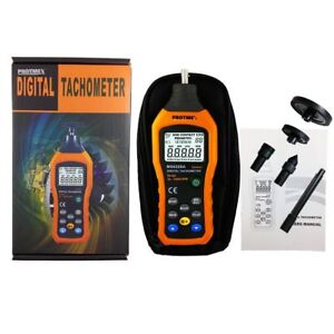 Ms6208a Contact type Digital Tachometer Meter High Performance 50 19999rpm Max