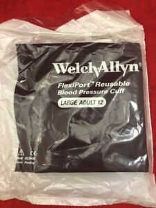 One New Welch Allyn Flexiport Reusable Large Adult Blood Pressure Cuff Reuse 12