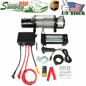 Off Road Vehicle 12v Atv 12000lbs Electric 4wd Recovery Winch W Steel Wire Rope
