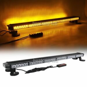 38 78 Led Amber Warn Traffic Advisor Emergency Response Beacon Strobe Light Bar