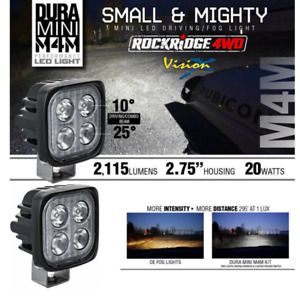 Vision X New Dura Mini M4m Led Compact Work Led Light Pair Rock Light Fog 4x4