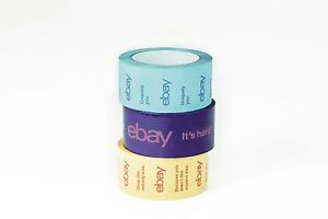 2 X 75 Yard Purple Blue And Yellow Ebay branded Packaging Tape Multi pack