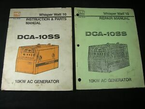 Mq Whisper Watt 10 Ac Generator Dca 10ss 10kw Parts Repair Instruction Manuals