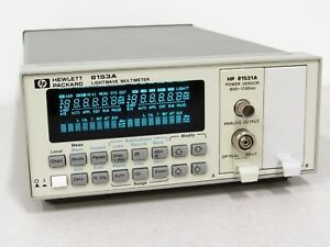 Hp Hewlett Packard Agilent 8153a Lightwave Dmm With 81531a Optical Power Sensor