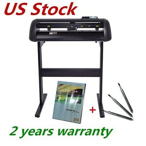 Usa 110v 24 Vinyl Cutter Plotter With Ccd Camera Full Auto Contour Cut Function