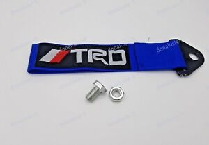 Blue Trd Tow Strap Jdm Tow Hook Fits Front Or Rear Universal