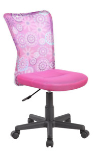 New Pink Floral Office Chair Furniture Adjustable Computer Desk Seat Teen Youth