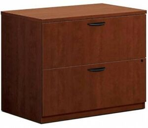 Basyx By Hon Lateral File Cabinet 35 1 2 w X 22 d X 29 h Cherry Bl