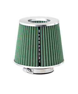 Sumex Airstgr Universal Sports Air Filter With Adaptors Green Car Sport