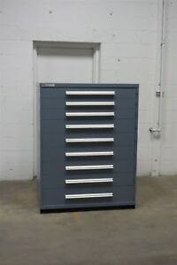 Used Vidmar 9 Drawer Cabinet Industrial Tool Storage 45 Wide 1243