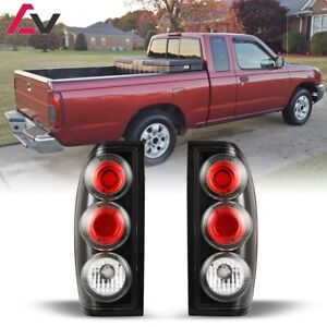 Altezza Tail Lights Set Pair Lh Rh For 1998 2004 Nissan Frontier Black Clear