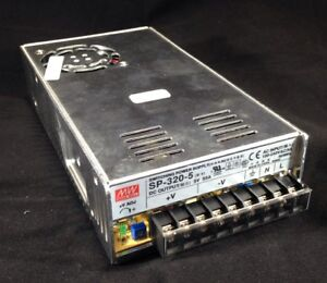 Mean Well Mw Switching Power Supply Sp 320 5 Ac In 100 240v Ac 5a 50 60hz Dc Out