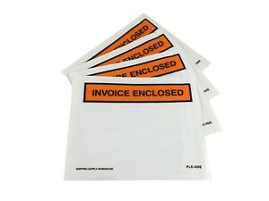 4 X 5 invoice Enclosed Packing List Envelopes Self Sealing Slip Pouches