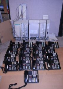 Nortel Norstar Business Office Phone System Meridian With 17 Phones