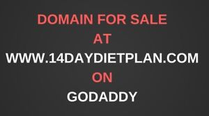 Premium Domain Name 14daydietplan com Website For Weight Loss Niche For Sale