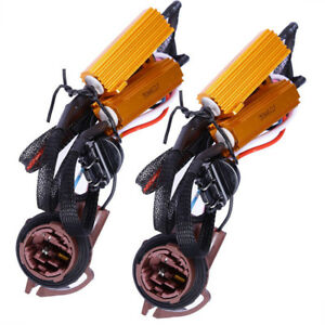 2pcs 3157 4157 Pre Wired Load Decoder Fix Hyper Flash For Led Turn Signal Light