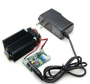 450nm 2w Cross Laser Module Focusable With Driver Cooling Fan Ttl 12v Adapter
