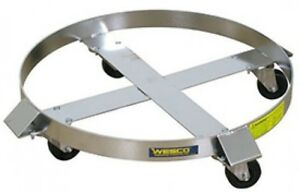 Wesco Stainless Steel Drum Dolly 240196 55 Gal Stainless Rigs Hard Rubber
