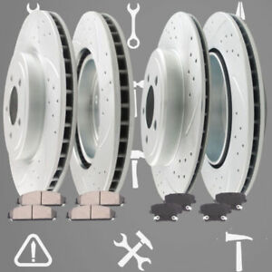 Front Rear Brake Rotors And Pads 2005 2006 2007 2008 2009 Chrysler 300 C S 5 7l