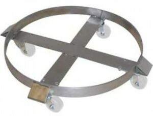 Wesco Stainless Steel Drum Dolly 240197 55 Gal Stainless Rigs Polypropylene
