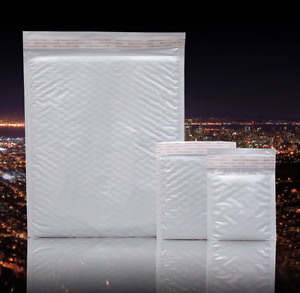 Wholesale Poly Bubble Mailers Padded Envelopes Shipping Bags Self Seal White