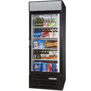 Beverage air 30 Black Refrigerated Glass Door Merchandiser With Led Lighting