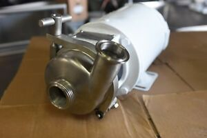 Stainless Steel Sanitary 3a Pump Last Used In Dairy Processing Plant