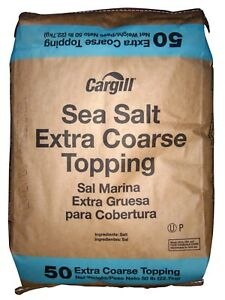 Sodium Chloride Extra Coarse Sea Salt nacl White Solid 50 Lb Bag