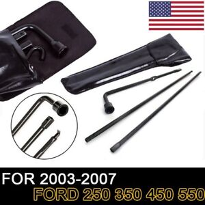 For 03 07 Ford F250 350 450 550 Spare Tire Tool Lug Iron Kit Set Spanner Wrench
