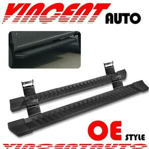 For 2004 2014 Ford F150 Super Cab 6 Side Step Running Board Nerf Bar Black V