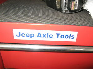 Jeep Axle Tools With Tool Box