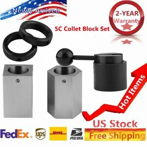 New 5c Collet Block Set Square Hex Rings Collet Closer Holder May
