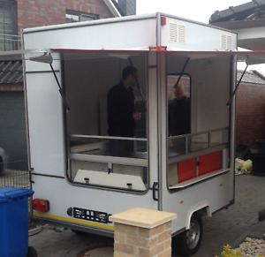 2m Mobile Food Trailer For Burgers Pancakes Catering Trailer Street Food
